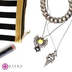 Gunmetal daze ✌ #jewelry #fashion #bling #treatyoself #ladies #accessories #musthaves #jewelrygram #AyanaDesigns