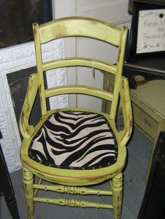 Mary of Dumpster Divas is popular for her ZEBRA chairs...more coming!
