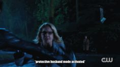 Felicity being stopped by Oliver
