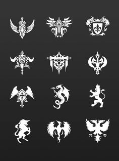 Cool Symbols, Magic Symbols, Ancient Symbols, Game Ui Design, Icon Design, The Ancient Magus Bride, Magic Design, Symbol Design, Weapon Concept Art