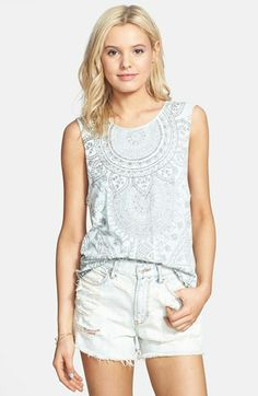 Project Social T Graphic Muscle Tank (Juniors) available at #Nordstrom