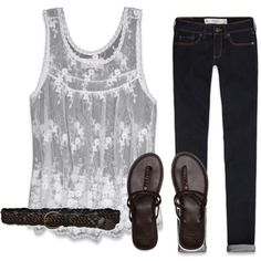 "Ok this is really cute without being tooo cutesy. ""Lovely Abercrombie Outfit"" on Polyvore"