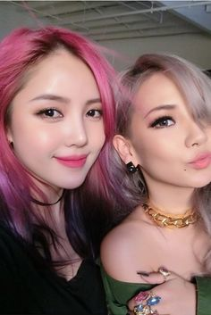 Lee Chaelin and Park Hye Min show off their candyfloss-inspired hair colours <3