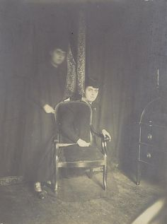 [Partial Dematerialization of the Medium Marguerite Beuttinger]  Unknown Artist, French    Artist:Henry Mathouillot ArchiveDate:ca. 1920Medium:Gelatin silver printDimensions:Image: 23 x 17.1 cm (9 1/16 x 6 3/4 in.)Classification:Photographs