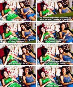 Pretty little liars funny scene Spencer and Aria Pretty Little Liars Netflix, Watch Pretty Little Liars, Preety Little Liars, Pretty Little Liars Quotes, Pll Memes, Pll Quotes, Ezra Fitz, Favorite Tv Shows, My Favorite Things