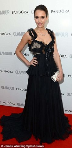 Jessica Alba in Alexander McQueen at the Glamour Awards 2012.