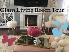 Good Morning Everyone Happy 😊 Thursday I've just uploaded my Glam Living Room Tour to my channel it's a fall addition as we are in the middle on fall/autumn here In Australia 🇦🇺 I Hope 🤞 you enjoy xoxo 😘 . Glam Living Room, Cozy Living Rooms, Living Room Decor, Narrow Family Room, Good Morning Everyone, Room Tour, Colorful Decor, House Tours, Fall Decor