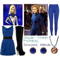 Fantasic Four: Susan Storm Richards/Invisble Woman Movie Outfits, Marvel, Woman, Polyvore, Movies, Image, Collection, Fashion, Moda