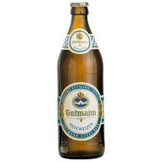 Cerveja Gutmann Hefeweizen, estilo German Weizen, produzida por Brauerei Gutmann, Alemanha. 5.2% ABV de álcool.
