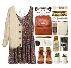 Cute and girly indie outfit