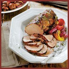 Smoked Paprika Pork Roast with Sticky Stout Barbecue Sauce by MyRecipes.com