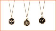 975b7b52c The Dragonfly 14k Gold Talisman, Direction 14k Gold Talisman, and  Hummingbird 14k Gold Talisman