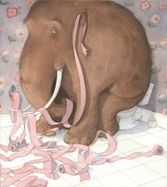 Koprolitos: How to Raise your (pet) Mammoth (Quentin Gréban) Watercolor Illustration Children, Elephant Illustration, Children's Book Illustration, Elephant Art, Whimsical Art, Animal Drawings, Collages, Graphic Art, Your Pet