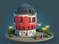 Egg House by Victor Vector #Design Popular #Dribbble #shots