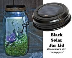 Create a memory jar with a canning jar & a solar lid!