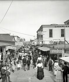 NYC. Rockaway, circa 1905. The Bowery looking east.