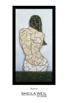 Fine Art Print Nude Mosaic Print Giclee Woman door SheilaWeilStudios, $20,00