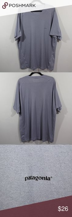 Patagonia Capilene Outdoor Hiking Shirt Gray 2XL Patagonia Capilene Hiking Outdoor Shirt  T-Shirt  Comes from a smoke-free household  Gray  The size is 2XL  Measurements are:  27 inches underarm to underarm 31.5 inches top to bottom  Polyester  Check out my other items for sale in my store!  H73 Patagonia Shirts Tees - Short Sleeve
