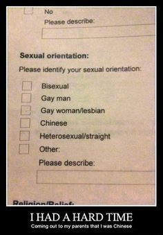 Wtf ?! Chinese is a sexual orientation now lol