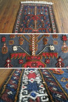 Vintage dark blue navy rug 3x4 boho chic rug https://sfrugs.com - Perfect small vintage area rug as bathroom rug, kitchen rug, kids room rug, nursery rug, boho chic rug, entry way rug @sfrugsonline
