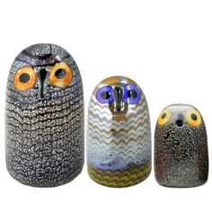 Birds by Toikka Owl Collection Ceramic Owl, Glass Ceramic, Scandinavia Design, Glass Birds, Marimekko, Scandinavian Style, Decorative Objects, Lassi, Glass Art