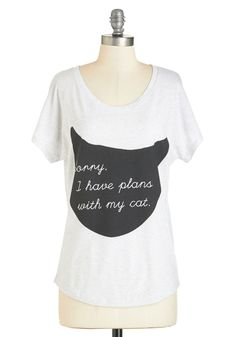 Caturday Night Tee, #ModCloth