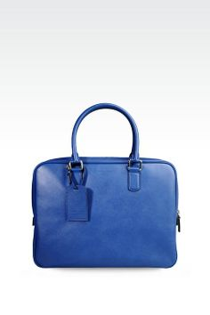 9b7380278 Giorgio Armani Men BRIEFCASE IN SAFFIANO CALFSKIN, Calf Skin Leather -  Armani.com
