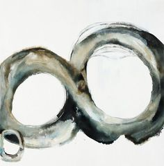 Abstract painting in contrasting neutral tones of a figure eight, lying horizontally on its side, with a tiny circle that partially overlaps the front of it, on a solid neutral background. Paleo II Wall Art by Farrell Douglass from Great BIG Canvas. Painting Prints, Wall Art Prints, Poster Prints, Canvas Prints, Framed Prints, Paintings, Watercolor Canvas, Abstract Canvas, Canvas Wall Art
