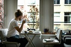 Chairs and table for compact city living. Morning routine  by iamdudu, via Flickr