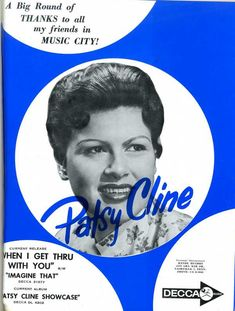 1962 Decca record ad for Patsy Cline
