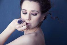 Rough Amethyst Sterling Silver Ring. Precious Stone. OOAK unique Design