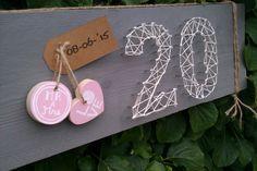 Steigerhout, spijkers, draad, jute, 20 jaar getrouwd