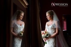Wedding photography at Parklands, Quendon Hall, Essex wedding photographers, www.expression-photography.co.uk. beautiful portrait of bride, creative use of mirror