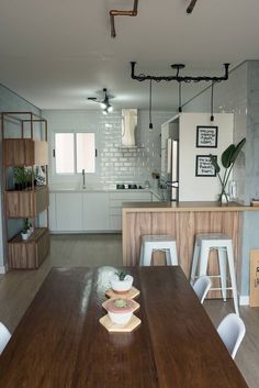 Youngsters Area Home Furnishings Kitchen Decoration - Great Ideas Loft Interior Design, Industrial Interior Design, Kitchen Sets, Kitchen Decor, Kitchen Design, Layout Design, Design Ideas, Sweet Home, Loft Interiors