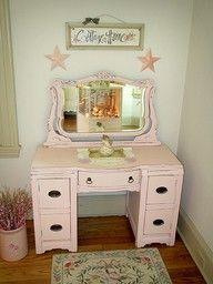 Pink dresser (several more) at Fox Hollow Cottage blog.