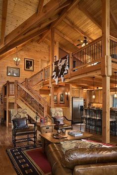 53 Smart Tiny House Loft Stair Ideas - Smart House - Ideas of Smart House - 53 Smart Tiny House Loft Stair Ideas Tiny House Loft, Rustic Loft, Loft Stairs, House Stairs, Rustic Home Design, Barn House Plans, Pole Barn Homes, Log Cabin Homes, Log Cabins
