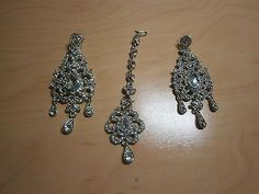 Ladies indian silver tikka and earrings set NEW in Jewellery & Watches, Ethnic & Tribal Jewellery, Asian | eBay