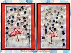Bricolage enfants sur la météo. Jour de pluie !!!