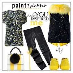 """""""Paint Splatter"""" by pat912 ❤ liked on Polyvore featuring Furs66, Les Petits Joueurs, Cédric Charlier, Tommy Hilfiger, Acne Studios, polyvoreeditorial and paintiton"""