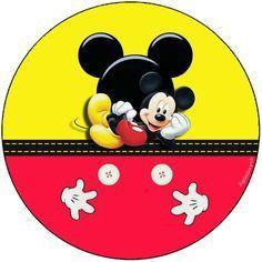 Convites Digitais Simples: Kit Aniversário de Personalizados Tema Mickey Mouse