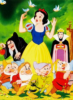 Snow White & the Seven Dwarfs! Dopey cracks me up!
