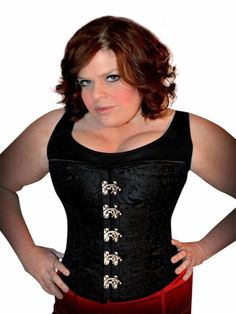Brocade Corset Embossed 2XS - 12XL Steampunk Overbust Waist Shaping Any Size