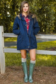 Footsteps In The Snow Jacket-Navy - New Today | The Red Dress Boutique