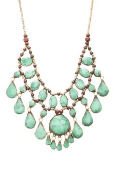 Turquoise cascade necklace