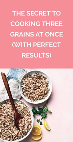 This blend of brown rice, farro, and quinoa makes lunchtime way more fun—and it freezes and reheats beautifully. Brown Rice Cooking, Cooking Basmati Rice, Cooking With Olive Oil, How To Cook Rice, How To Cook Quinoa, Cooking Tips, Cooking Recipes, Healthy Recipes, Freezing Cooked Rice