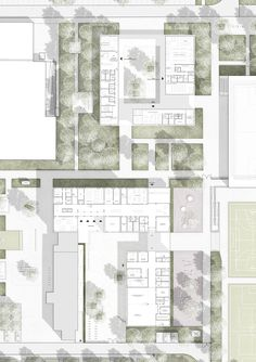 Result: renovation of primary school and new construction of citizen . competitionline - Closer choice: Ground plan EC, © SINAI Gesellschaft von L. Architecture Drawing Plan, Architecture Portfolio, Concept Architecture, School Architecture, Architecture Design, Cultural Architecture, The Plan, How To Plan, Planer Layout