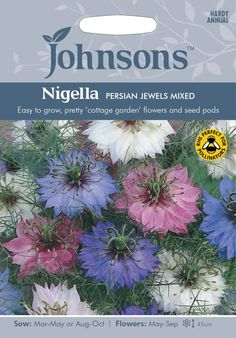 Johnsons Nigella Love in a Mist Persian Jewels Mixed 500 Seeds – JustSeed