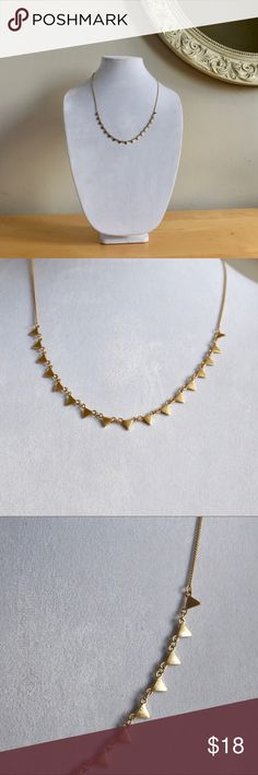 """Gap Gold Triangle Necklace This is a NWT Gap necklace. Gold chain and small gold triangles. Lobster clasp closure. Approximately 24"""" in length. GAP Jewelry Necklaces"""