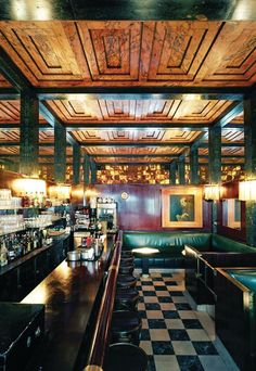 Chapter 22: Interior of American Bar in Vienna, Austria. Architect, Adolph Loos