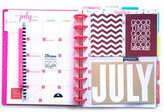 July setup in the 'Be Bright' Happy Planner™ of mambi Design Team member Casei Gutierrez | me & my BIG ideas